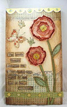 The Lovely Flowers Emily Dickinson Mixed Media Collage