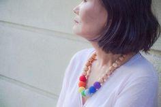 Juniper Rainbow Nursing Necklace Modern Trendy Natural | Etsy Etsy Handmade, Handmade Gifts, Nursing Necklace, Tassel Necklace, Rainbow, Trending Outfits, Natural, Crochet, Unique Jewelry