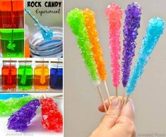 Rock candy is always a fun favorite of children, no kids doesn't like it .It's very easy to make yourself  #diy #food #kids