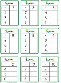 hier jetzt die entsprechenden Übungskärtchen für die Multiplikation... LG Gille Schrift: Grundschrift Will Software Bild: Andre... College Math, Math School, 1st Grade Math Worksheets, 3rd Grade Math, Math Skills, Math Lessons, Math Games, Math Activities, Montessori Education