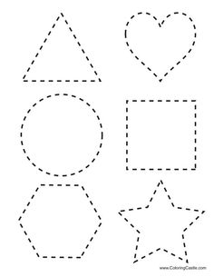 Tracing Shapes Printables | tracing shapes download here six shapes that can be traced:
