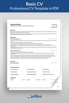 Our basic resume template offers a clear and unmistakable path to a complete resume. It gives you the idea of how to set up a resume with easy steps and a classic look #cv #cvtemplate #cvtemplates Basic Cv Template, Basic Resume, Nursing Care Plan, Care Plans, Clinic, Templates, How To Plan, Education, Motivation
