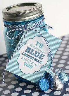 Blue Christmas Gift Tag Printable + Blog Hop