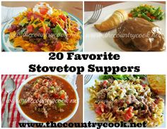 The Country Cook: 20 Favorite Stovetop Suppers