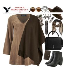 """Winter Wanderlust with American Eagle: Contest Entry"" by nvoyce ❤ liked on Polyvore featuring American Eagle Outfitters, MINKPINK, L.K.Bennett, Givenchy, Maison Michel, Carven, Lulu Frost, MANGO, Feather & Stone and Chanel"