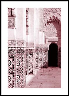 Pink Ornamental Architecture Poster in the group Poster / Sizes and Formats . Pink Ornamental Architecture Poster in the group Poster / Sizes and Formats / at Desenio AB Black Architecture, Water Architecture, Architecture Model Making, Architecture Wallpaper, Architecture Collage, Minimalist Architecture, Islamic Architecture, Concept Architecture, Residential Architecture