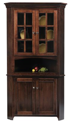 Hereu0027s One Of Our Popular Shaker Corner Hutches   Real Space Savers! |  Furniture I Would Love To Have | Pinterest | Corner Hutch, Spaces And  Dining Room ...