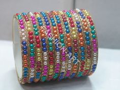 Colorful Pearl Bangles