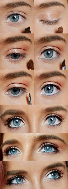 How to Do Natural Spring Makeup | Easy DIY Look by Makeup Tutorials at http://www.makeuptutorials.com/makeup-tutorial-12-makeup-for-blue-eyes