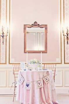Vintage Chic Sweetheart Table for Two table Hello Kitty Wedding, Valentine Banner, Valentines, On Your Wedding Day, Wedding Things, Wedding Stuff, Spring Wedding Inspiration, Blush Pink Weddings, Pink Themes