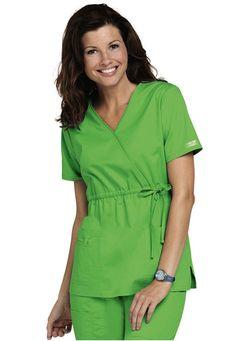 Cherokee Workwear Core Stretch empire wrap scrub top. - Scrubs and Beyond