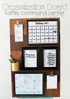 Organization Board Family Command Center tutorial on www.girllovesglam.com