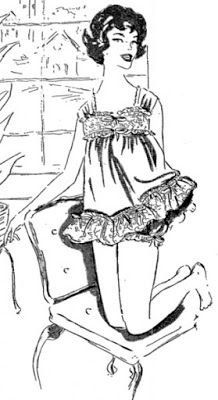 ANOS DOURADOS: IMAGENS & FATOS: FATOS - MODA    (1) Traje íntimo de nylon. Apro-         priado para enxoval de noivi         noivinhas ou de estudantes          em viagem de férias