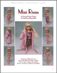 """Mini Riens"" 11 inch Ball Jointed Doll BJD Kaye Wiggs Fashion Clothing Pattern | eBay"