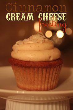 Cinnamon Cream Cheese Frosting for pumpkin bread!