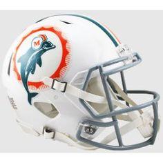Miami Dolphins Riddell Speed Full Size Football Helmet 1966 Anniversary