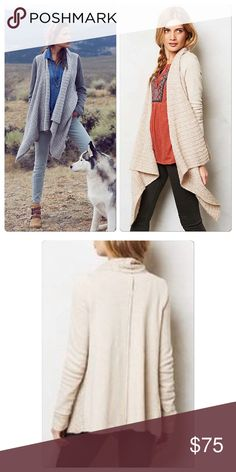 """Anthropologie Casado Cardigan DETAILS Saturday/Sunday pays homage to the unique comfort of the weekend with detailed basics in cozy fabrics. And we're fairly certain it doesn't get any cozier than this sweatshirt-meets-sweater knit. By Saturday/Sunday Cotton, polyester Hand wash Regular: 25.75""""L ❗️Petite Size❗️ Anthropologie Sweaters Cardigans"""