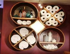 Reused whiskey barrels or cheese boxes