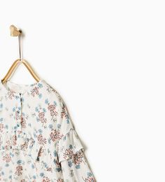 FLORAL FRILLED SHIRT from Zara