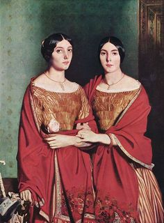 "French Romantic Painter----  Théodore Chassériau,  'The Two Sisters""  1843"