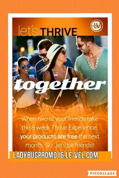 Check out my YouTube channel as well for more about my Thrive Experience