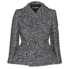 Dolce & Gabbana Wool-Blend Tweed Blazer ($1,431) ❤ liked on Polyvore featuring outerwear, jackets, blazers, coats, chaqueta, fantasia, wool blend jacket, tweed jacket, retro jackets and dolce gabbana jacket