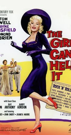 The Girl Can't Help It - MOVIE Directed by Frank Tashlin. With Tom Ewell, Jayne Mansfield, Edmond O'Brien, Julie London. Gangster hires down-and-out press agent to make his blonde bimbo girlfriend a singing star.