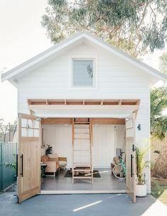 Feng Shui, Home Office, Indoor Outdoor, Outdoor Spaces, Backyard Barn, Interior Design Trends, The Design Files, Coastal Homes, Coastal Cottage