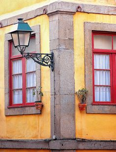 Typical #Oporto street #Portugal and its stunishing colors