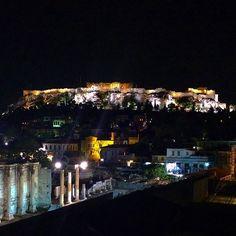 Acropolis #greece #athens #acropolis #night #light #athena #travel #ancientgreece #city #instatravel ...