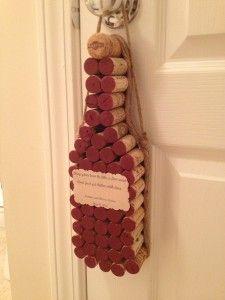 Wine Cork Decor Bottle