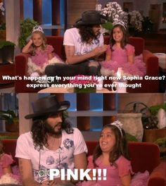 Russell interviewing Sophia Grace and Rosie
