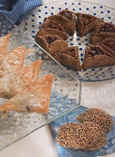 A Trio of Purim Recipes: Filo Hamantaschen, Chocolate Hamantaschen with a caramel pecan filling, and Purim seed cookies
