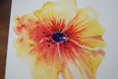 How to do pretty watercolor flowers. A tutorial in 2 parts.