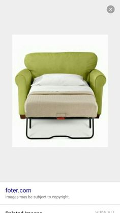 Chair that turns into a twin bed.