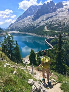 Bindelweg Hike to Lake Fedaia - Val di Fassa - Trentino - Dolomites Italy #hiking #camping #outdoors #nature #travel #backpacking #adventure #marmot #outdoor #mountains #photography