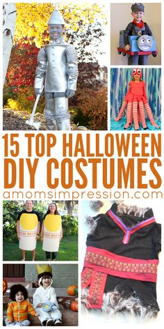 Top DIY Halloween Costumes perfect for dressing up this fall!  These craft projects aren't as hard as you might think!