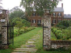Chatham Manor, Fredericksburg, Virginia. A Georgian style manor.