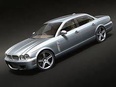 Maya Xj 2008 Luxury Sedan - 3D Model