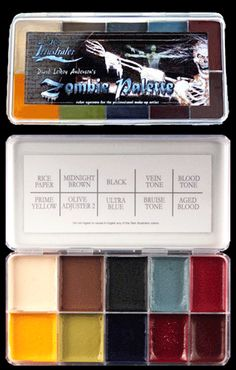 Zombie Makeup color pallet  | Skin Illustrator Zombie Palette