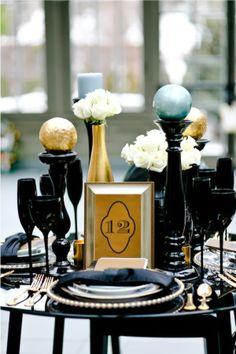 Decoração com Dourado, Preto e Branco - Apenas Três Palavras: Sim, Eu Aceito!