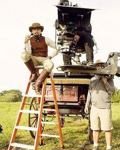 Behind the scenes: Django Unchained. #Django #Djangounchained #behindthescenes #Tarantino #popcultart