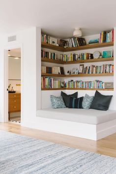 house interior: Samantha Gluck Emily Henderson Playroom Reading Co. house interior: Samantha Gluck Emily Henderson Playroom Reading Co. House Design, House, Interior, Small Master Bedroom, Home Decor, House Interior, Minimal House Design, Home Interior Design, Interior Design