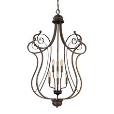 "Manufacturer: Millennium Lighting. Finish: Rubbed Bronze. Light Bulb: (6)60w B10 Cand C Incand(Not Included). Category: Ceiling Lights Ceiling Lights > Large Pendants Traditional. Dimensions: Wire Length: 120"" - Diameter: 29.75"" - Chain/Cord: 60"" - Canopy Diameter: 6"" - Body Height: 44.75""."