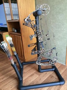 Let's see pics of your homemade bow holders for target practice! - Page 12