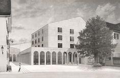 Architekturvisualisierung Nadine Kuhn, Architekt Atelier Lorbeer, Mels