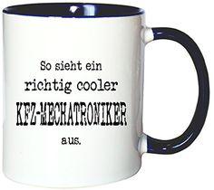 Mister Merchandise Kaffeetasse Becher So sieht ein richtig Cooler KFZ-Mechatroniker aus. , Farbe: Weiß-Blau - http://geschirrkaufen.online/mister-merchandise/weiss-blau-mister-merchandise-kaffetasse-becher-2