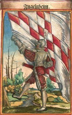 """(Ingelheim am Rhein?) [Ingelnheim] (f°117) -- Koebel, Jacob, """"Wapen des heyligen römischen Reichs teutscher Nation"""", Franckfurth am Main, 1545 [BSB Ms. Rar. 2155]"""