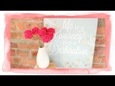 Easy Pom Pom Flowers - YouTube