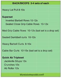 Back/Bicep Workout from My Mission Impossible: Workouts #FitFluential